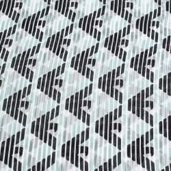 Emporio Armani Grey Logo Print Silk Square Scarf
