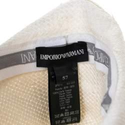 Emporio Armani White Paper Hat Size 57