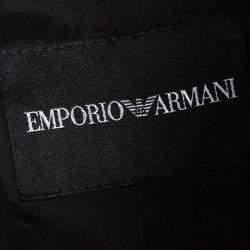 Emporio Armani Black Linen Blazer M