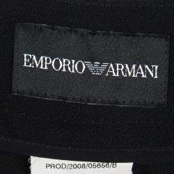 Emporio Armani Black Wool Trousers M