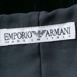 Emporio Armani Black Dotted Corduroy Sleeveless Top S