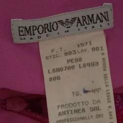 Emporio Armani Pink Fuzzy Lurex Skirt M