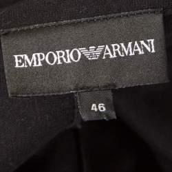 Emporio Armani Black Knit Tailored Blazer L