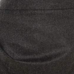 Emporio Armani Grey Knit Draped Mini Skirt M