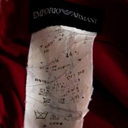 Emporio Armani Red Crepe Pencil Skirt M