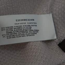 Emporio Armani Smoke Grey Knit Zip Front Jacket S