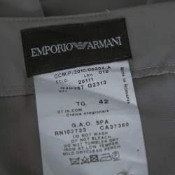 Emporio Armani Grey Stretch Crepe Pencil Skirt M