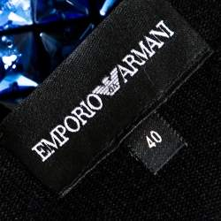 Emporio Armani Black Silk & Cashmere Knit Embellished Top S