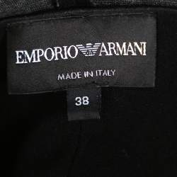 Emporio Armani Black Knit Double Breasted Bodysuit Jacket S