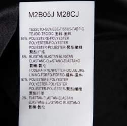 Emporio Armani Black Sequin Embellished Velvet Double Breasted Jacket M