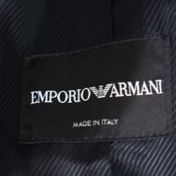 Emporio Armani Black Crepe Double Breasted Jacket S