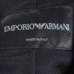 Emporio Armani Black Stretch Silk Sleeveless Top M