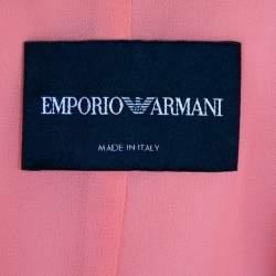 Emporio Armani Orange Crepe Sheer Paneled Detail Blazer M