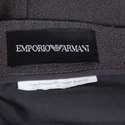 Emporio Armani Dark Grey Crepe Paneled Pencil Skirt M