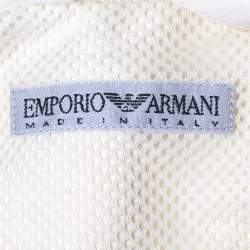 Emporio Armani Cream Double Breasted Belted Coat S
