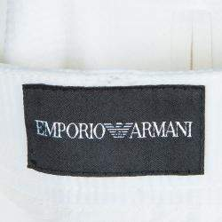 Emporio Armani White Straight Fit Trousers S