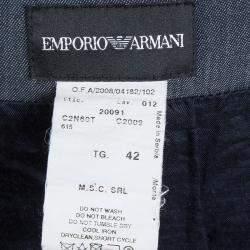 Emporio Armani Indigo Contrast Waist Panel Detail A-line Skirt M