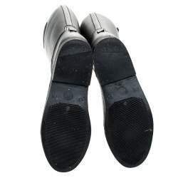 Emporio Armani Black Rubber Wellington Knee High Boots Size 40