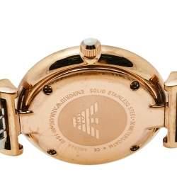 Emporio Armani Grey Two-Tone Stainless Steel Classic AR1840 Women's Wristwatch 32 mm