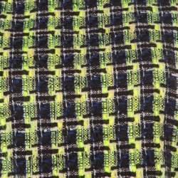 Erdem Multicolor Cap Sleeve Amanie Tweed Top M