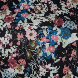 Erdem Multicolor Floral Printed cap Sleeve Dress S