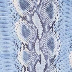 Ermanno Scervino Blue Python Print Silk Short Sleeve Top M