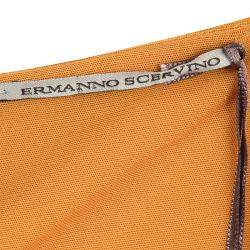 Ermanno Scervino Orange Lace Insert Cowl Neck Detail Sleeveless Dress M