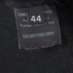 Ermanno Scervino Black Cotton Knit Tailored Trousers M