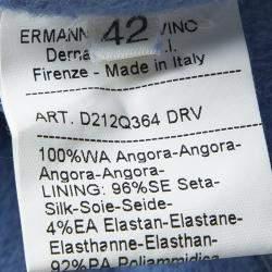 Ermanno Scervino Blue Angora Layered Strapless Dress M