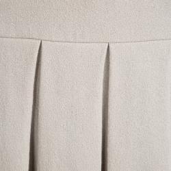 Ermanno Scervino Beige Wool Pleated Mini Skirt S