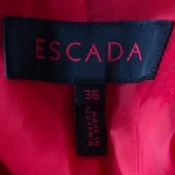 Escada Red Wool Tailored Blazer XS