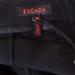 Escada Black Wool High Waist Tailored Trousers M