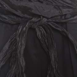 Escada Black Metallic Ruched Bodice Belted Toska Jumpsuit M