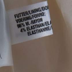Escada Beige Wool Eyelet Collar Blazer and Skirt Set M