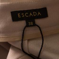 Escada Blush Pink Crepe Straight Leg Tovey Trousers M
