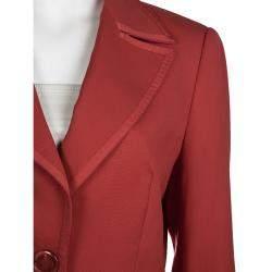 Escada Red Wool Blazer S