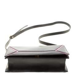 Escada Black/Pink Leather Shoulder Bag