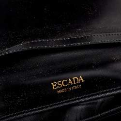 Escada Black Leather Top Handle Bag