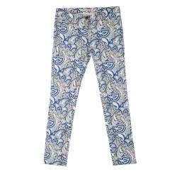Etro Multicolor Paisley Printed Slim Fit Denim Jeans L