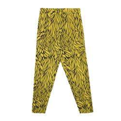 Etro Yellow and Black Leaf Printed Silk Elasticized Waist Pants M