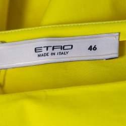 Etro Yellow Contrast Panel Detail Boat Neck Blouse L