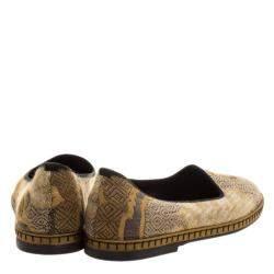 Etro Beige Brocade Loafers Size 37.5
