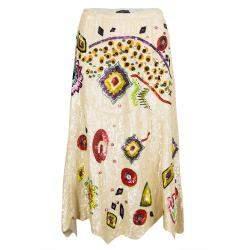 Etro Multicolour Sequin Embellished Midi Skirt M