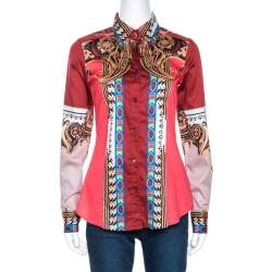 Etro Multicolor Paisley Printed Cotton Tribal Accent Shirt S