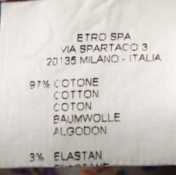 Etro Multicolor Paisley Print Stretch Cotton Shirt S