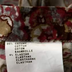 Etro Multicolor Floral Paisley Printed Stretch Cotton Button Front Shirt L