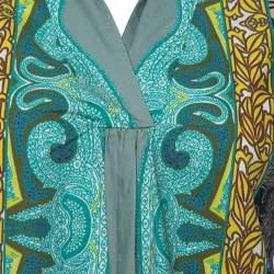 Etro Multicolor Paisley Print Cotton Shirt Dress L