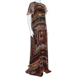 Etro Multicolor Printed Silk Maxi Dress M
