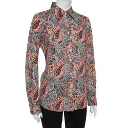 Etro Multicolor Cotton Paisley Print Full Sleeve Shirt L