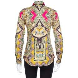 Etro Multicolor Paisley Print Stretch Cotton Shirt S